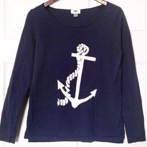 Navy Blue Anchor Sweater 💙⚓